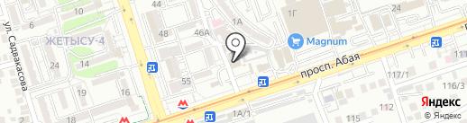 Олимп Престиж на карте Алматы