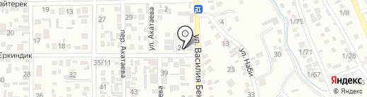Перизат на карте Алматы