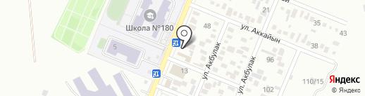 Жаксылык на карте Алматы