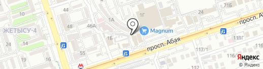 Акбар СБ на карте Алматы