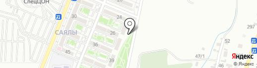 Алматы тургын уй, ТОО на карте Алматы