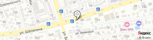 Инкар Амбебап на карте Алматы