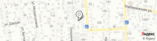 Мадияр на карте Алматы