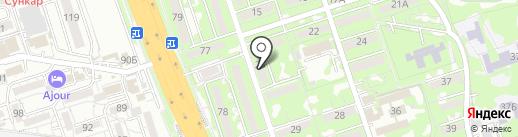 Тукан на карте Алматы