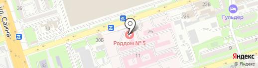 Родильный дом №5 на карте Алматы