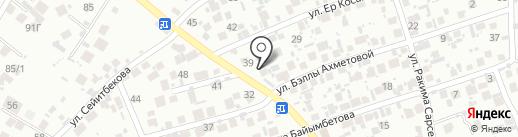 Разия на карте Алматы