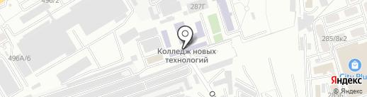 Алматинский государственный колледж новых технологий на карте Алматы