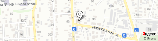 Заман на карте Алматы