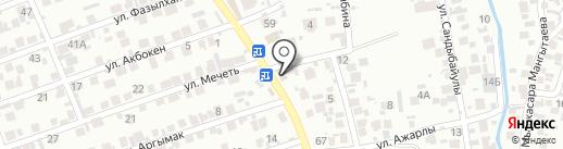 Келеке на карте Алматы
