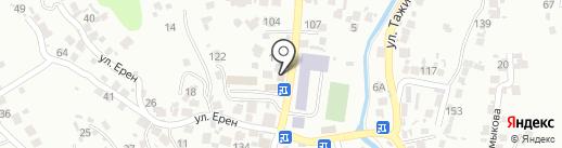 Жандос на карте Алматы