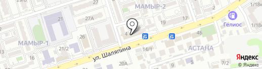 Японика на карте Алматы