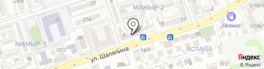 Волна на карте Алматы