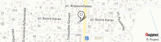 Есхат на карте Алматы