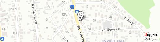 Берекелик на карте Алматы