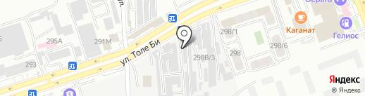 Торгово-сервисная компания на карте Алматы