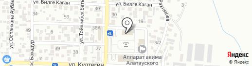 Алатауский районный суд г. Алматы на карте Алматы
