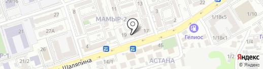 Тау-Сункар на карте Алматы