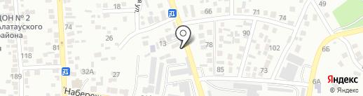 Алдияр на карте Алматы