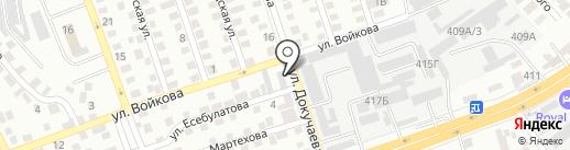 Интарь на карте Алматы