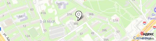 Ауэзовский районный отдел занятости и социальных программ на карте Алматы