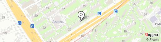 Береke на карте Алматы