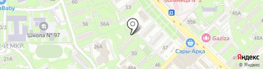 Камбар на карте Алматы