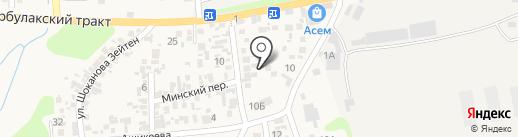 Боралдай на карте Боралдая