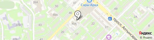 Бобур на карте Алматы
