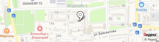 ДАМУ на карте Боралдая