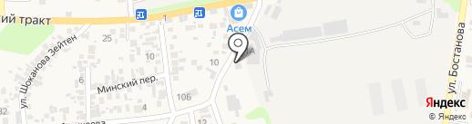 Барыс на карте Алматы