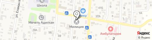 Кисановская сельская библиотека на карте КазЦика