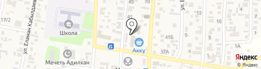 Шугла Шунгит, ТОО на карте КазЦика