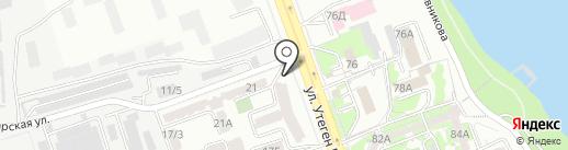 Айсулу на карте Алматы