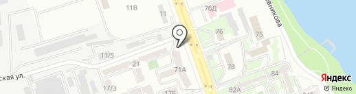 Алмат на карте Алматы