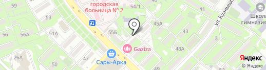 Аптека №19 на карте Алматы