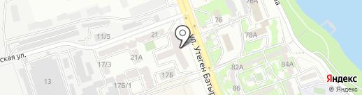 Айбар на карте Алматы