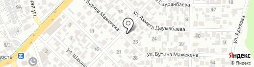 Асет на карте Алматы