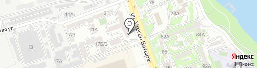 Нотариус Жалдыбаева Ш.О. на карте Алматы