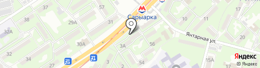 Алтын-Нур на карте Алматы