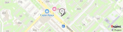 Добрая на карте Алматы