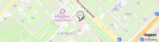 Городская поликлиника №6 на карте Алматы