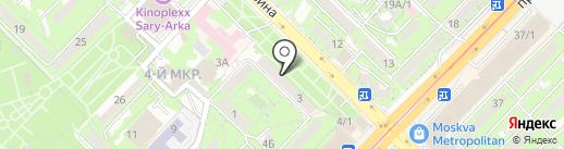 Магазин детской одежды на карте Алматы
