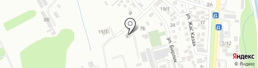 ТАУ на карте Алматы