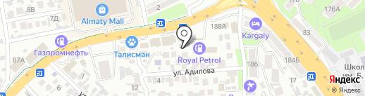 100LED на карте Алматы
