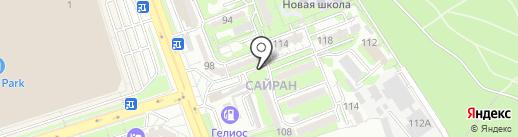 Киоск по продаже овощей и фруктов на карте Алматы