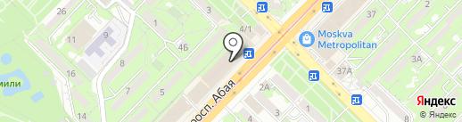 Туфелька на карте Алматы