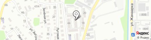 Iзденiс, ПКСК на карте Алматы