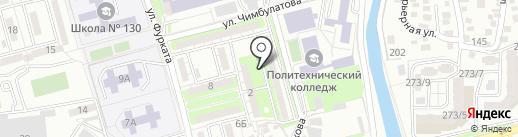 Тастак-1 Пуск на карте Алматы
