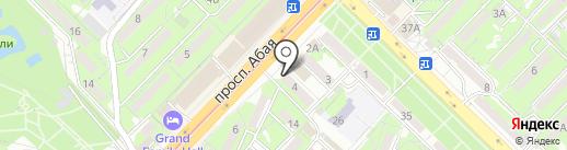 Женис на карте Алматы