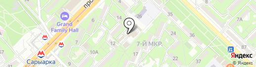 Хан-Тенгри на карте Алматы